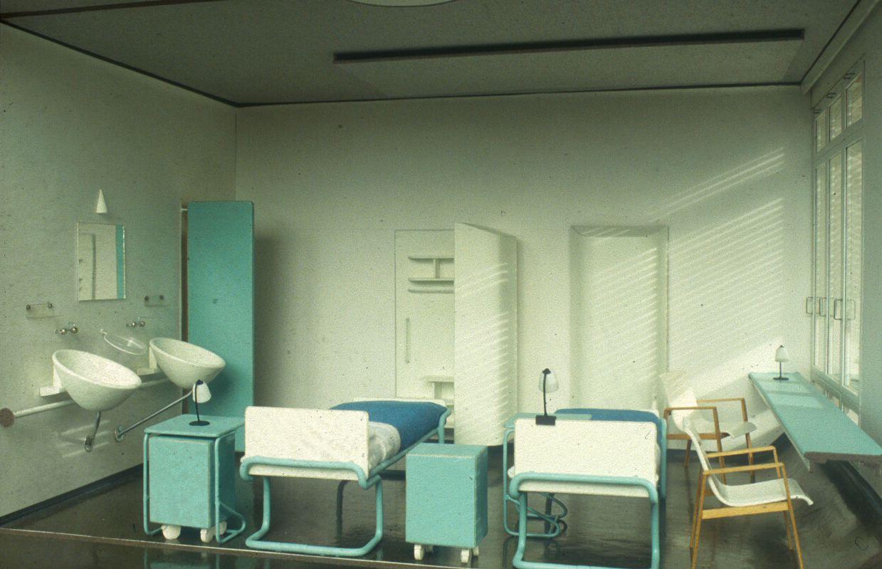 Interiér sanatoria Paimio