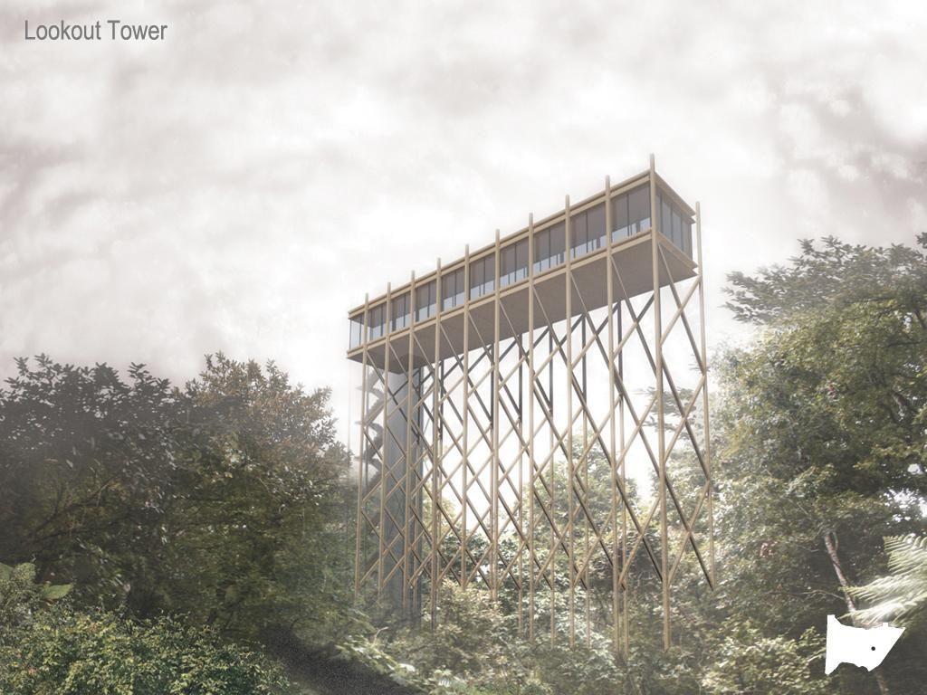Ekologické výukové a rekreační centrum Banderilla - vyhlídková věž - foto © Holcim Foundation