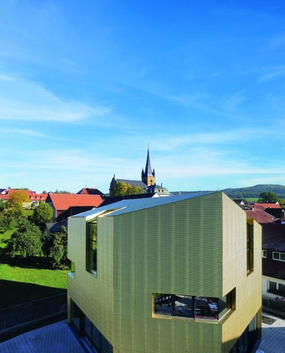 H2M Architekten+Stadtplaner GmbH - Knihovna Litzendorf - foto © Fleischer Metallfaszinationen