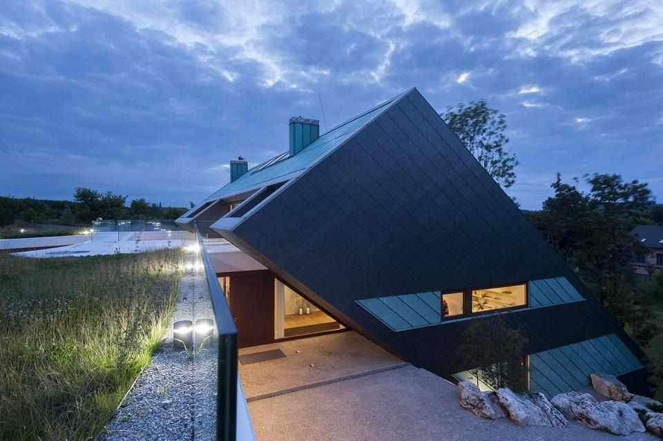 MOBIUS Architekci - Przemyslaw Olczyk - rodinný dům Edge - foto © Středisko mědi (copperconcept.org)