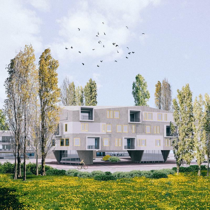 Studie bytových domů Sokolov, vizualizace, Petr Tuček, object-e