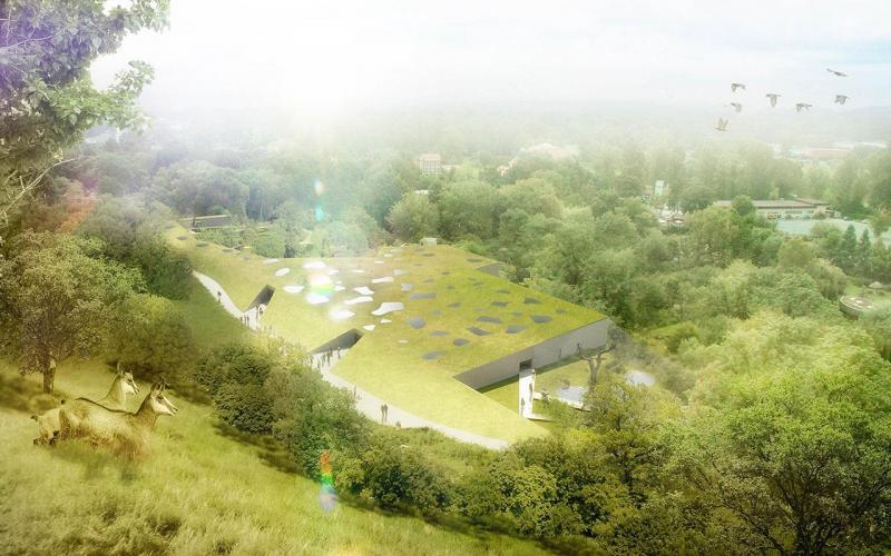 Echorost architekti - Návrh na pavilon Amazonie pražské Zoo - celkový pohled - © Echorost architekti