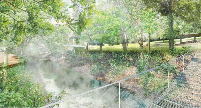 Rusina Frei architekti – Nábřeží Loučné v Litomyšli, pohled z lávky // 1. místo – foto © archiv autorů