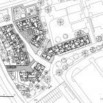 Studie bytových domů Sokolov, půdorys 2NP, Petr Tuček, object-e