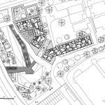 Studie bytových domů Sokolov, půdorys 4NP, Petr Tuček, object-e