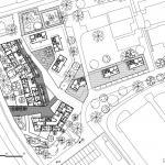 Studie bytových domů Sokolov, půdorys 1NP, Petr Tuček, object-e