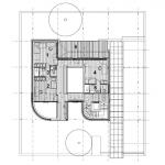 Mstská vila Procházkova, AP ateliér, půdorys 2 NP, 1+2+4 pokoj, 3+5 koupelna, 6 terasa
