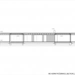 Ateliér Kunc Architects, RD Horní Počernice, podélný řez - foto © archiv autorů