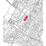 Obecní dům a radnice v Ďáblicích, situace, A.LT Architekti