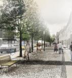 Planá nad Lužnicí - vizualizace nákupní pěší zóny