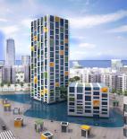 Architecture school tower - Dubai - soutěž AC-CA - čestné uznání - Ognjen Dzomba, Djordje Kuridza - Srbsko a Černá Hora - vizualizace exteriéru