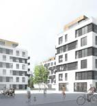 "22ARCHITEKCI + AJiW Biuro Architektoniczne - Bytový komplex ""Fi"" v Krakově, Polsko - foto © Středisko mědi"