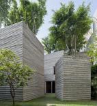 Vo Trong Nghia Architects - Vo Trong Nghia, Masaaki Iwamoto, Kusuke Nishijima - House for Trees - Ho Či Minovo Město - foto exteriéru © Hiroyuki Oki