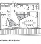 Edita Vráblová - Interiér advokátní kanceláře, River Park, Bratislava - půdorys