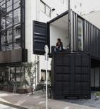 Tomokazu Hayakawa Architects - kancelář a galerie v přepravním kontejneru, Tokio - foto © Kuniaki Sasage