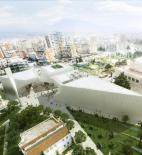 BIG - Nová mešita - Tirana - vizualizace exteriéru © BIG