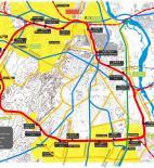 Urbanistická obnova železničního okruhu v Novém Dillí - mapa dopravní sítě - foto © Holcim Foundation