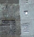 Obr. 4 a) Stav železobetonového pláště chladicí věže po provedení hrubého předčištění