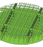 Obr. 9 Nová železobetonová prefabrikovaná vestavba, a) výpočtový model