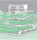 Archea Associati - Laura Andreini, Marco Casamonti, Silvia Fabi, Giovanni Polazzi - Vinářství Antinori - půdorys na kótě 184 m