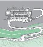 Archea Associati - Laura Andreini, Marco Casamonti, Silvia Fabi, Giovanni Polazzi - Vinářství Antinori - půdorys na kótě 169,65 m