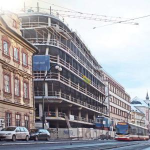 Palác Národní vyrůstá v historickém centru Prahy - foto © časopis Beton TKS